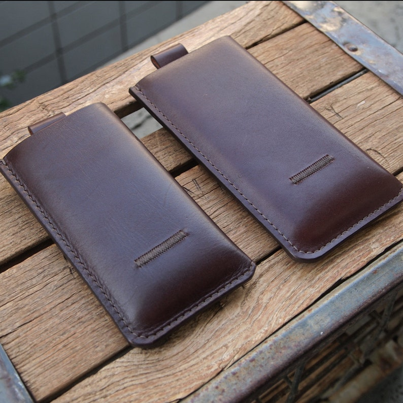 Genuine Leather iPhone 8 7 6 / iPhone 8 Plus 7 Plus 6 Plus image 0