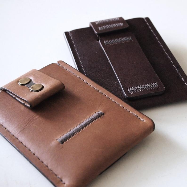 Minimal Wallet Minimalist Wallet Minimalism Genuine Leather image 0