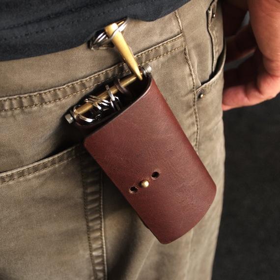 Genuine Leather Key Case key holder case for him gift leather for dad car key organizer leather goods key fob key cover multiple keys