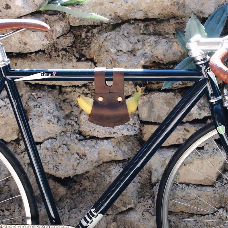 Made to Order Bike banana holder leather bike accessories bike image 0