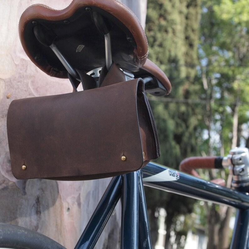 Genuine Leather Bike Tool Bag / Saddle Bag / Cycling Bag / image 0