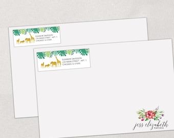 Personalized Address Label B21250 Kids Animal Custom Address Label