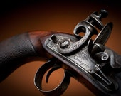 16 x 24 inches Photographic art print. Antique Flintlock