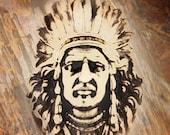 "20 x 24 inches, Photographic art print.  ""Big Chief""."