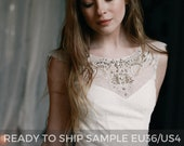 Ready to ship sample/ Tulle wedding gown // Gardenia / Lace wedding dress, ivory bridal dress, bohemian wedding dress, A line bridal gown