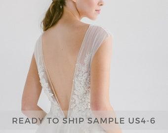 ef0da43b0de Sample sale   Ivory tulle wedding dress    Dione  Open back bridal gown