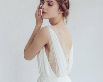 Silk wedding dress | Etsy
