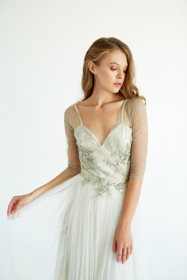 Ready to ship //Tulle wedding gown // Clio /Olive wedding image 0