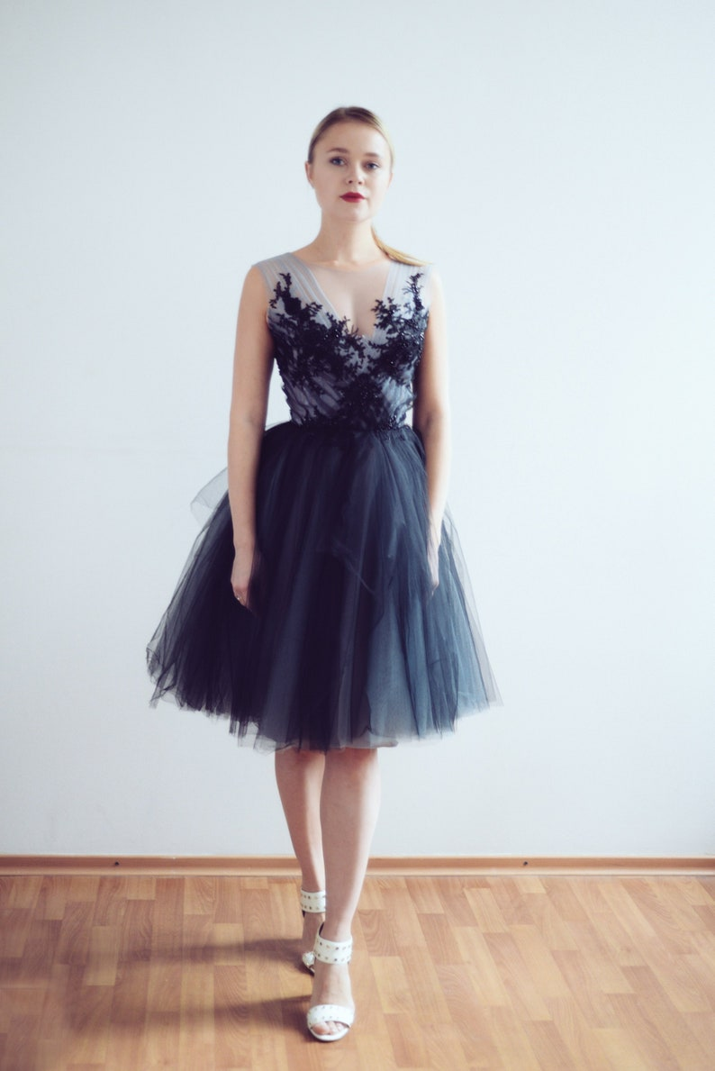 Short tulle evening dress // Calypso Nightfall/ Little black image 0
