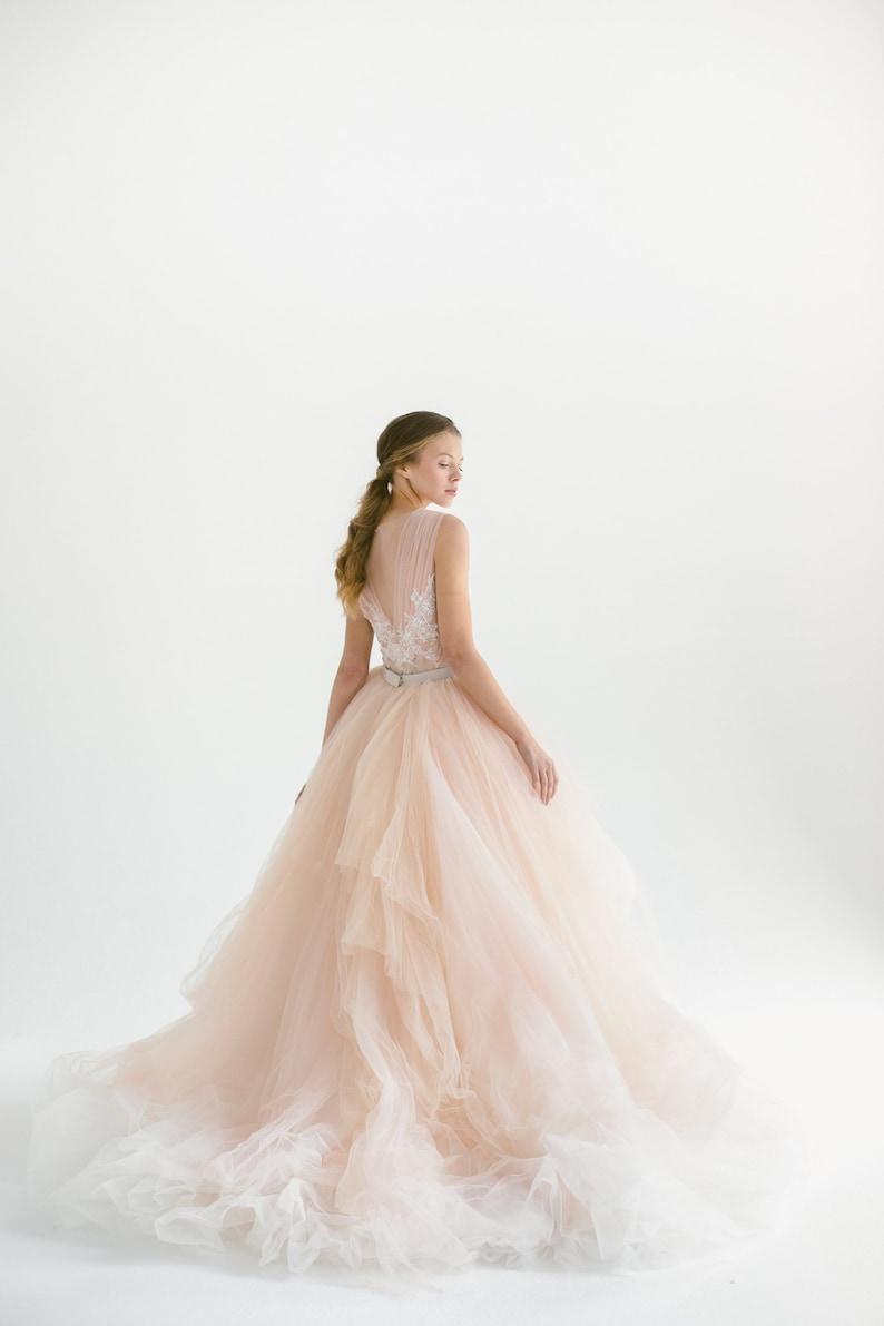 5e47e4cfe0f8 Ready to ship/ One size/ Tulle wedding dress // Calypso in | Etsy