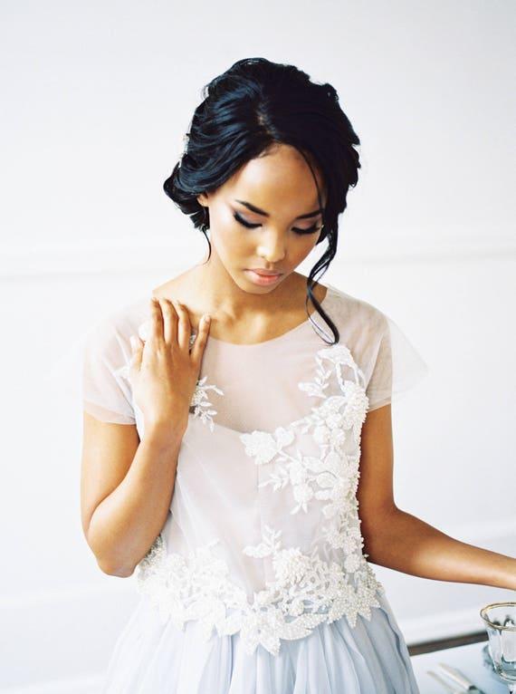 Hochzeitskleid Seide / / Rosalia / Braut trennt Spitze