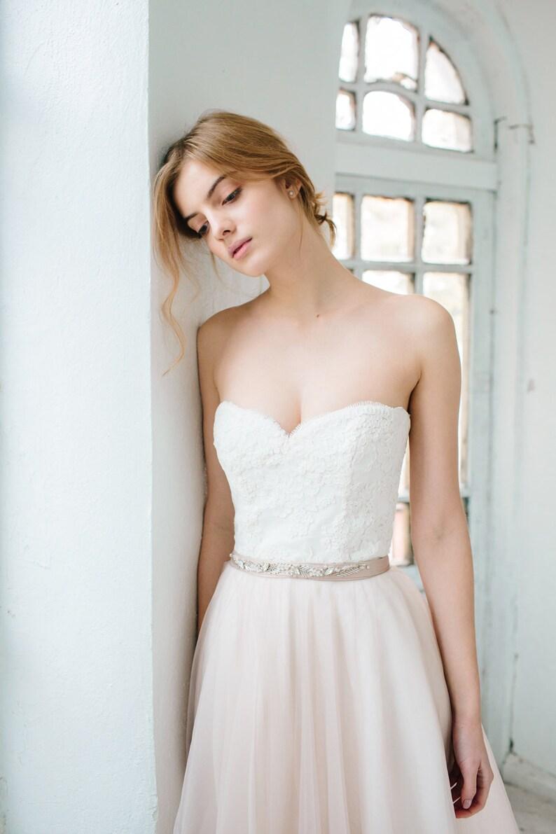 19b4ca72e46 Ready to ship sample  Blush wedding gown    Dahlia