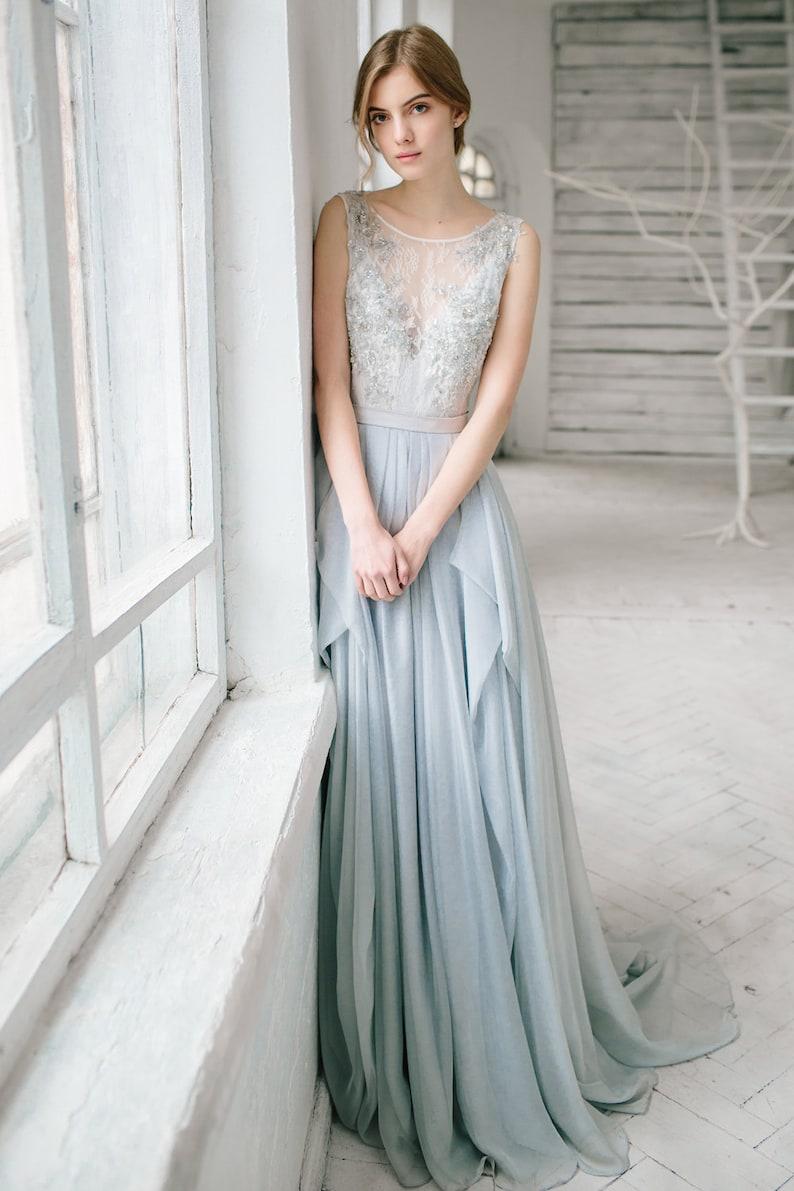 Silk Wedding Dress with Lace