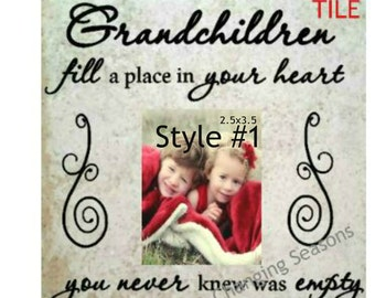 Grandchildren frame, Grandparent frame, Grandchildren picture frame, Grandma photo frame, grandpa frame, New Grandparent Gift