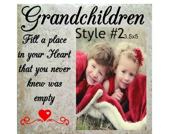 Grandchildren picture frame, Grandparent frame, Grandchildren, Grandchildren saying, Grandma photo frame, grandpa frame, Grandparent Gift