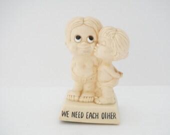 "Vintage 70s W&R Berries ""We Need Each Other"" Figurine"