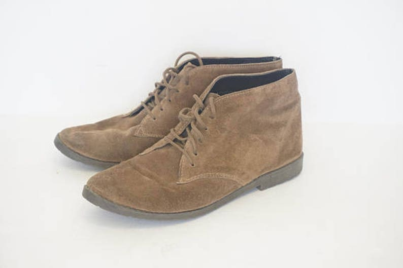 25aaf6fde Vintage Buskens Tan Brown Suede Ankle Boots Womens Size 6.5   Etsy