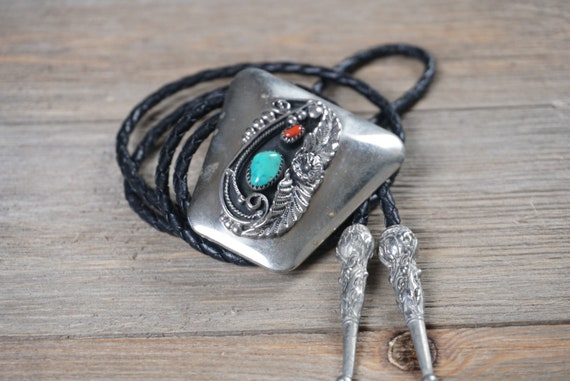Vintage Southwestern BOLO Tie | Sterling Bolo | St