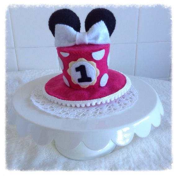 Mini Felt Minnie Mouse Birthday Cake Hat
