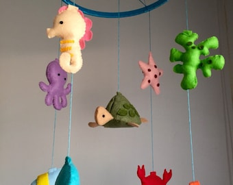 Sea Creatures Theme Baby Mobile