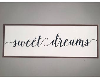 Special Order: Sweet Dreams Wood Sign