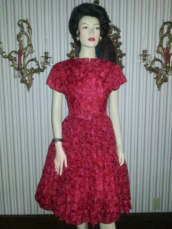 The Most Amazing 1950's Silk Chiffon New Look Dres