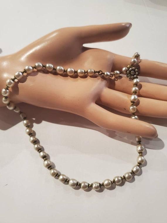 Signed Designer  Miriam Haskell Baroque Pearl Chok