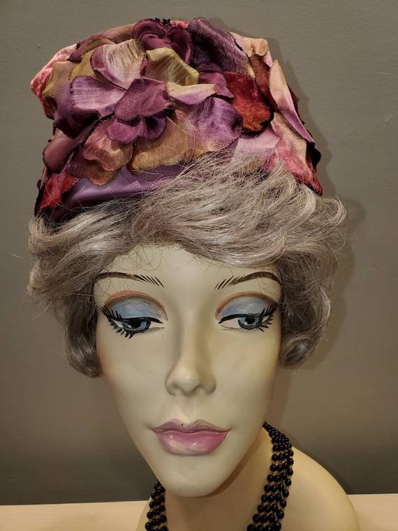 Designer Elsa Schiaparelli Mid Century Plum and M… - image 1