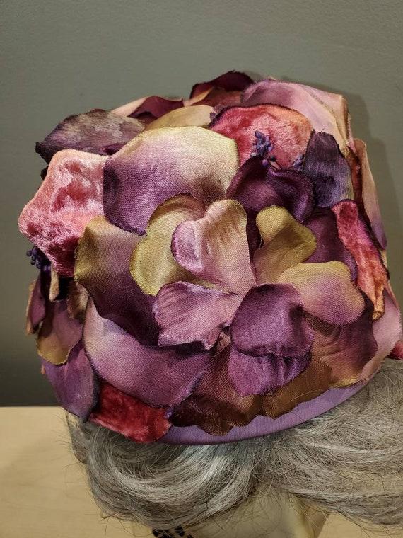 Designer Elsa Schiaparelli Mid Century Plum and M… - image 3