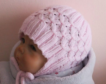 Earflap Baby Hat Knitting Pattern