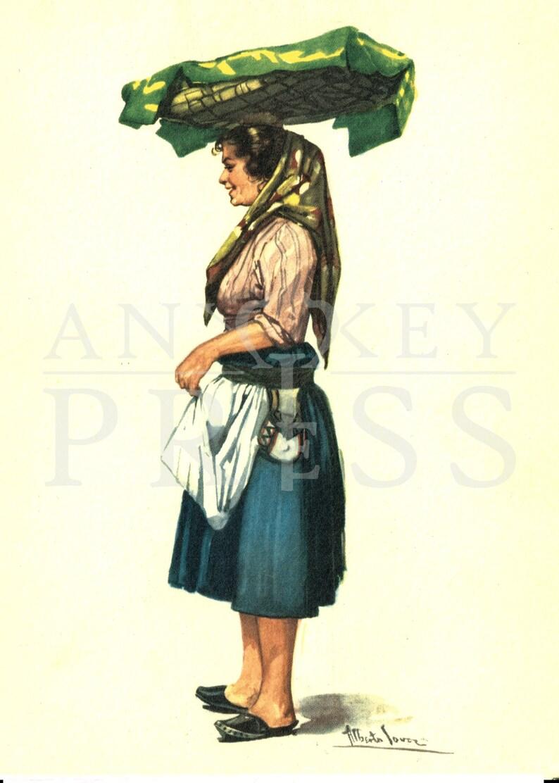 Vintage Postcard Reproduction - Costume - Lisbon, Portugal
