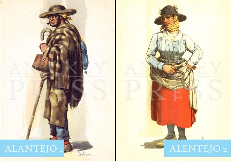 Vintage Postcard Reproduction - Costume - Alentejo, Portugal