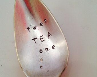 Stamped Birthday Age Spoon, Personalised Birthday Teaspoon, Birthday Cutlery, Pun Cutlery, Milestone Birthday, Tea Gift, Tea Lovers Gift!
