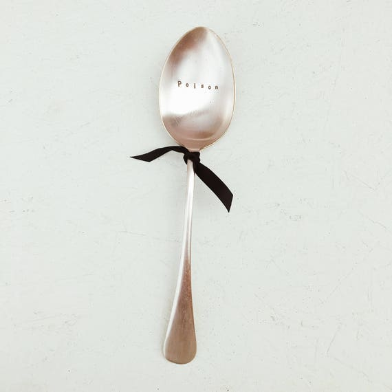 Hand Stamped Vintage Spoon Free UK Postage Small Spoon With Your Own Words Personalisation Available Personalised Gift