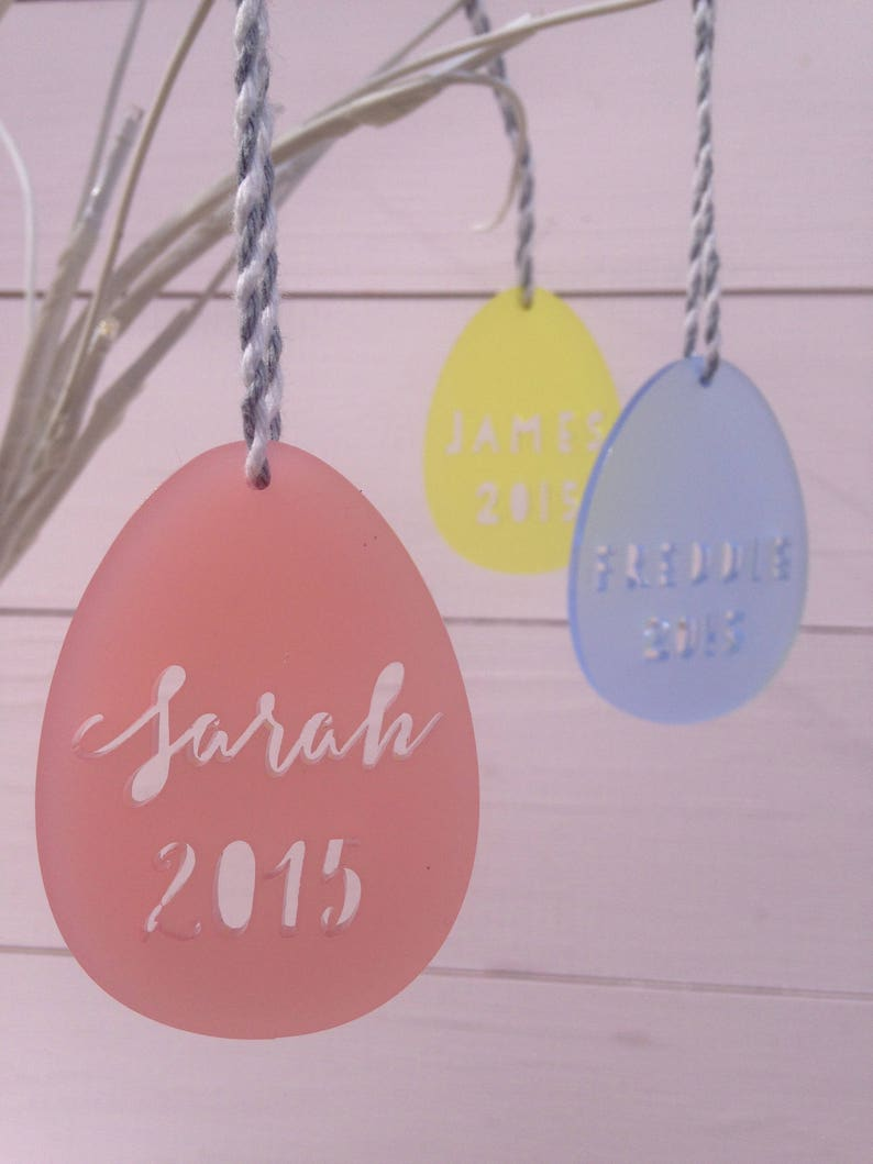 Easter Decoration Personalised Twiggy Tree Decoration Laser Cut Acrylic Can Be Personalised Easter Egg Hanging Decoration Easter Gift