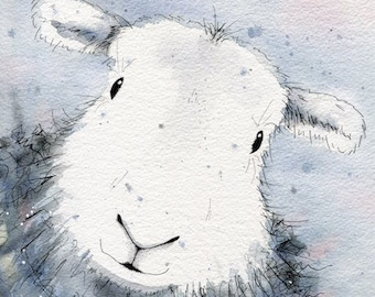 Limited edition print - Bluebell the Herdwick sheep, sheep print, Herdwick print