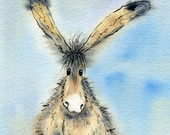 Limited edition print - Nigel the donkey, donkey print, donkey picture