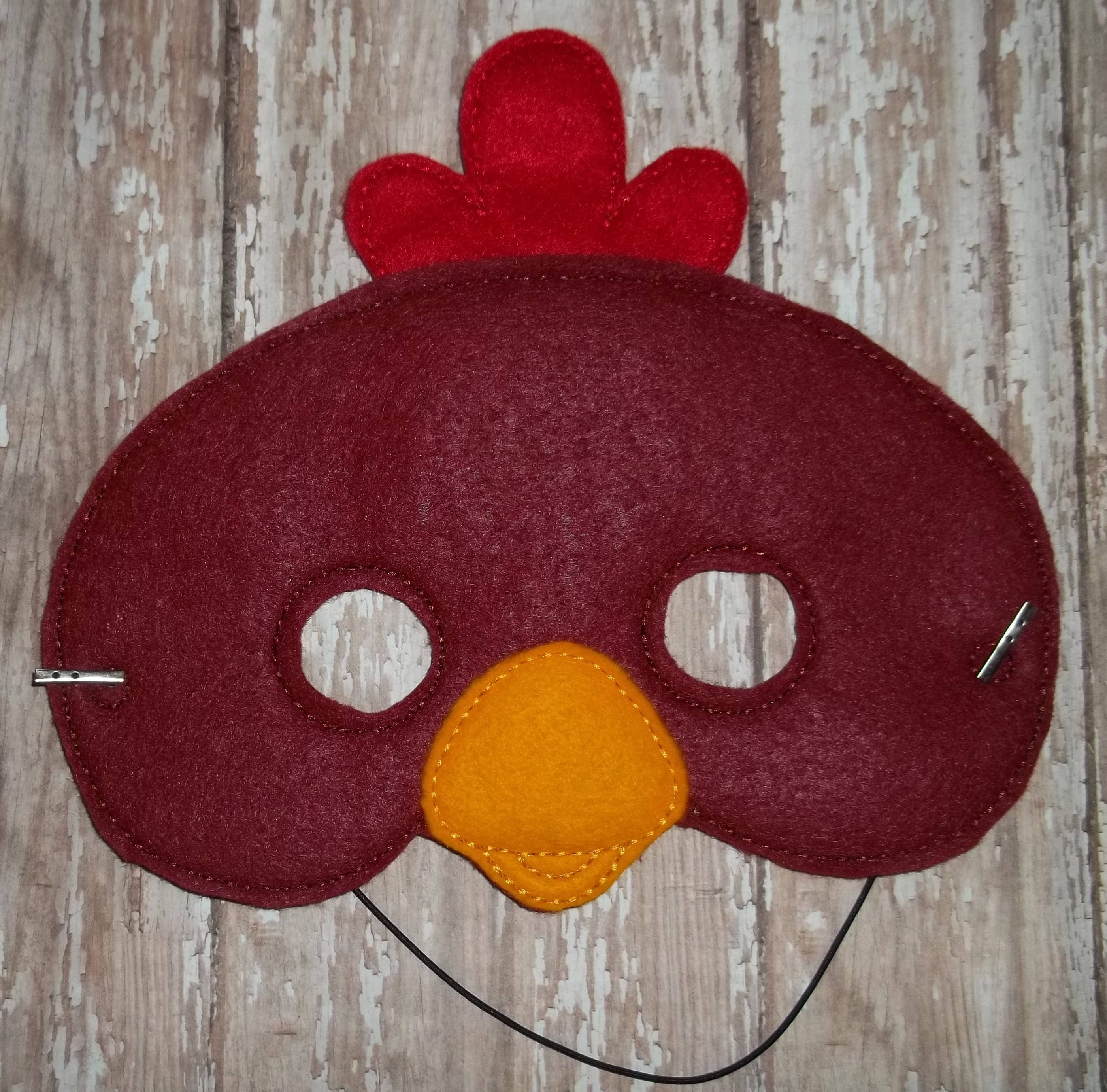 Little Red Hen Mask Felt chick Farm Animal Pretend Play Teach