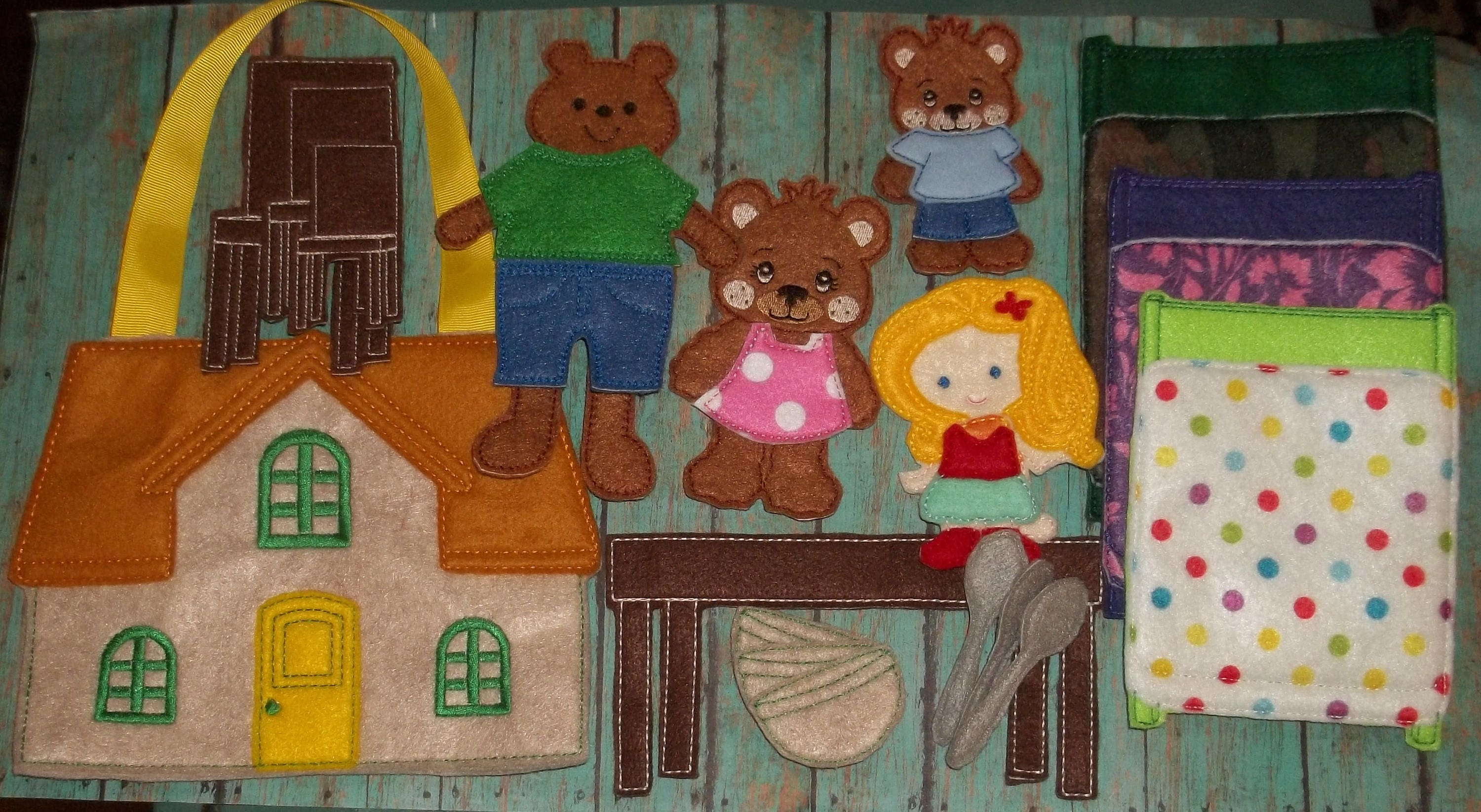 Goldilocks Three Bears Felt Board Flannel Board Set Busy