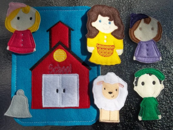 Mary Had A Little Lamb Finger Puppet School Felt Board Comes W