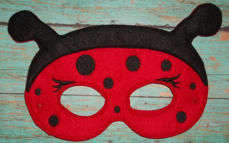 Felt Lady Bug Mask