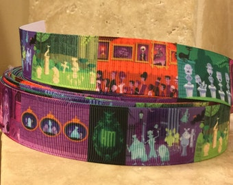 5 YDS Colorful Haunted Mansion Ribbon