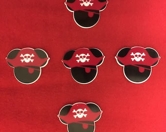 Set of 5 Pirate Mickey Mouse Resin