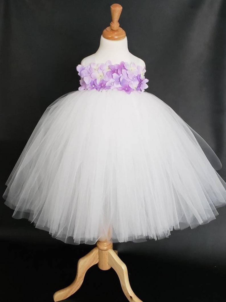 Flower Girl Tutu Dress White Ball Gown White Flower Girl Tutu Dress Flower Girl Tutu Dress Pageant Tutu Dress White Tutu Dress
