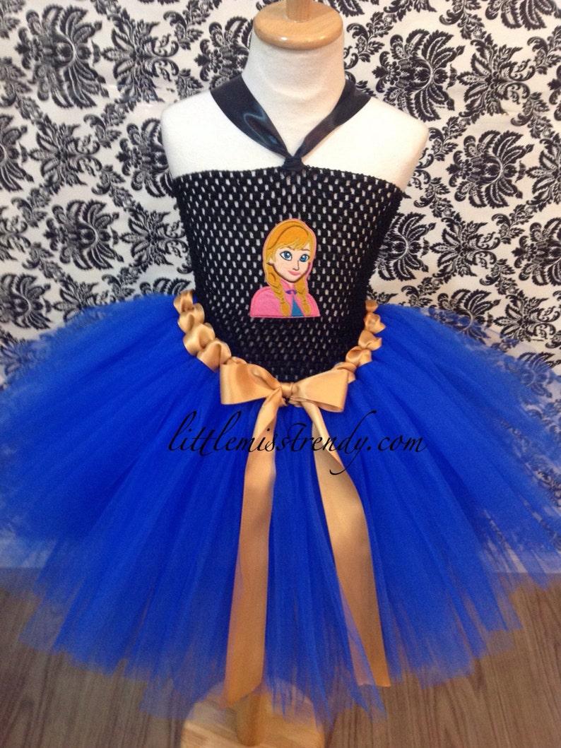 a41dc79b25 Princesa Anna inspirado Vestido de Tutu Ana Tutu traje de
