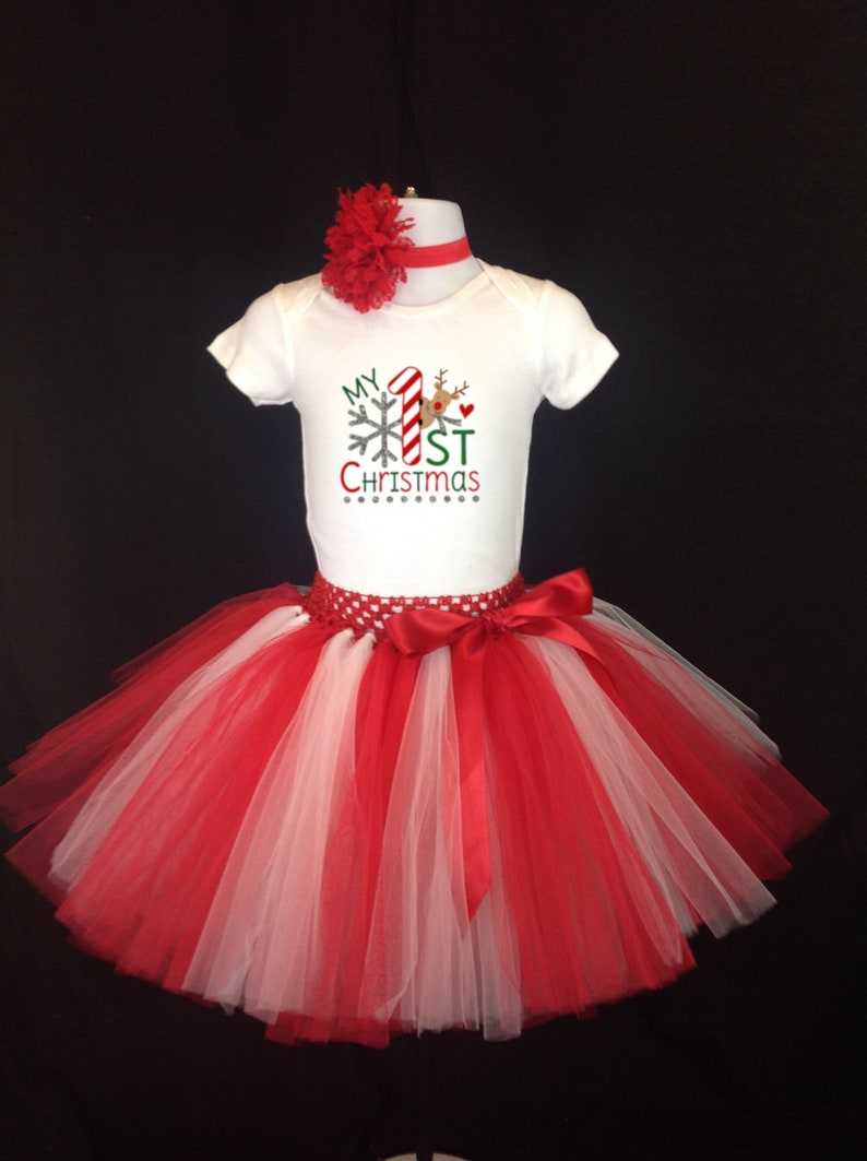 731049e70 First Christmas Tutu Outfit Girl 1st Christmas Tutu Dress | Etsy