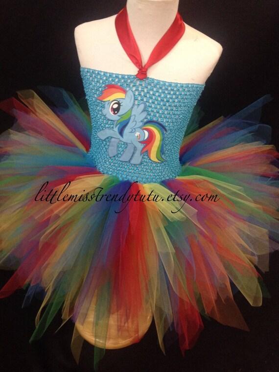 Rainbow dash my little pony mlp style tutu dress