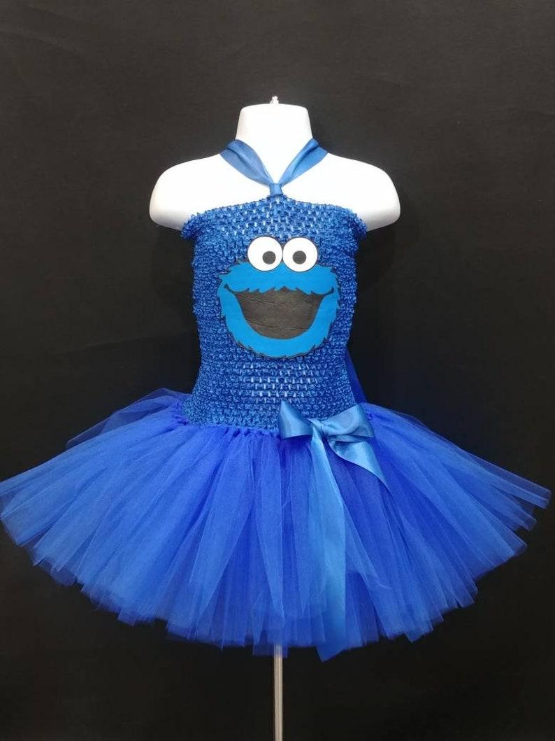 Cookie Monster Costume Cookie Monster Dress Sesame Street  5816bc555157