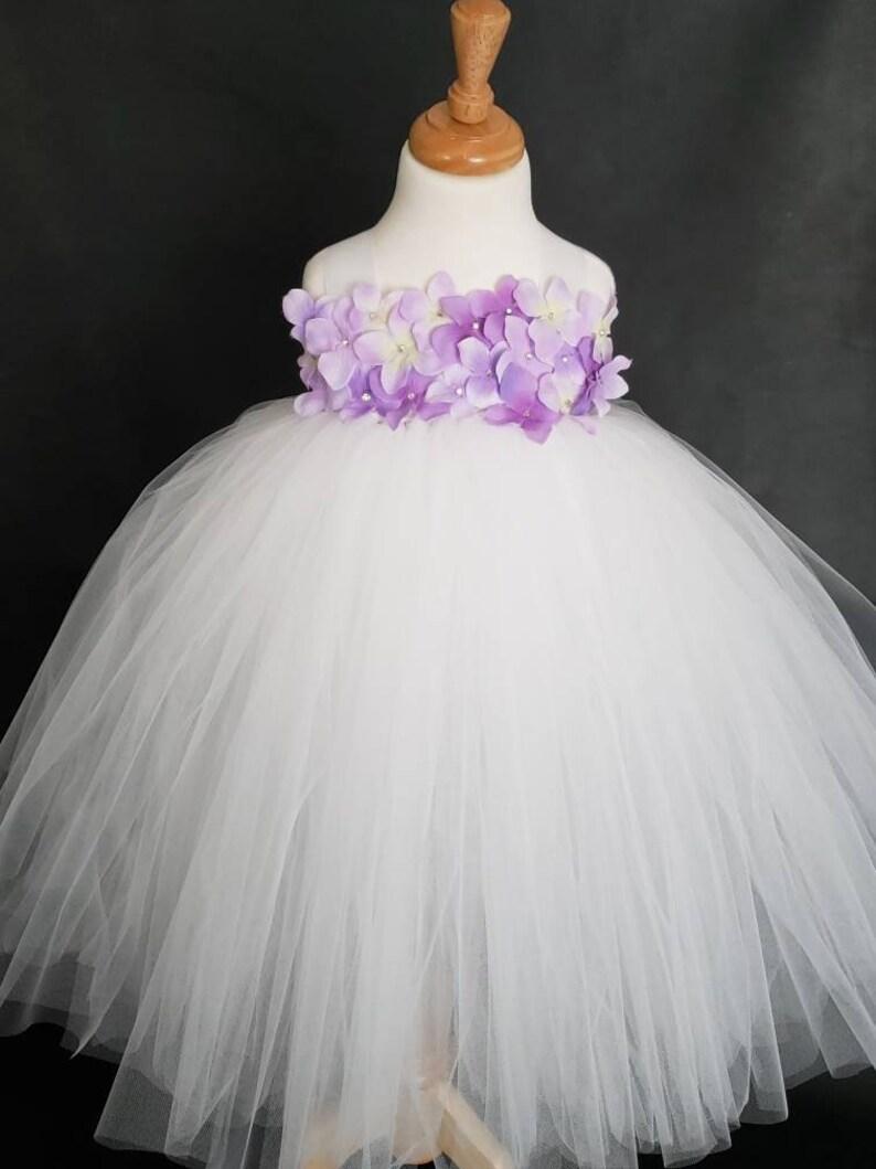Flower Girl Tutu Dress Tutu Dress Flower Girl White Ball Gown White Tutu Dress Pageant Tutu Dress White Flower Girl Tutu Dress