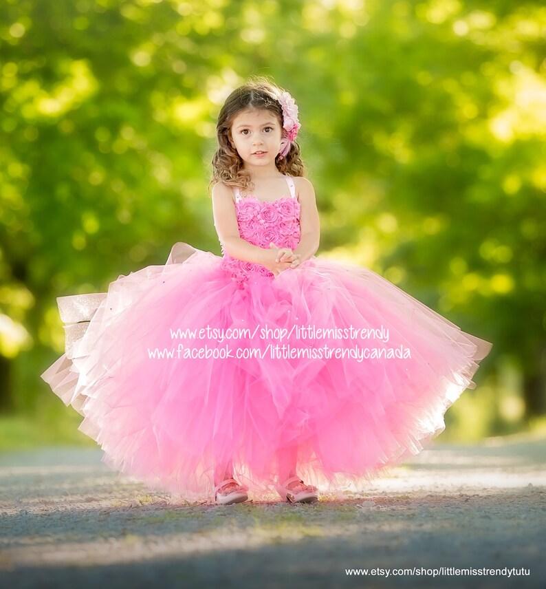 bb55c47b8699 Pink Couture Flower Girl Dress Pink Tutu Dress Couture Tutu